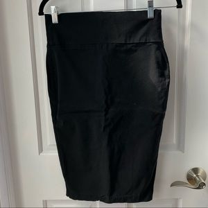 Form fitting pencil skirt